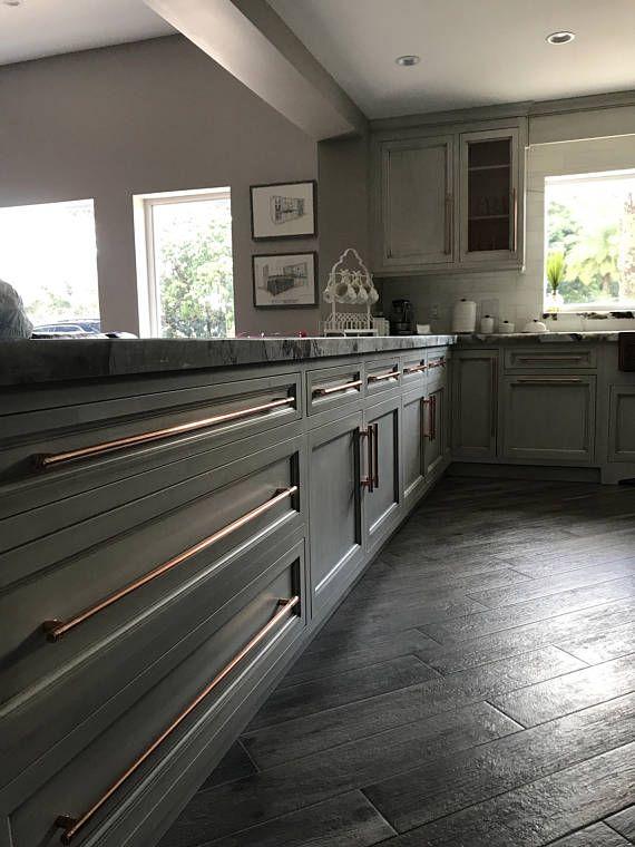 Modern Copper T Bar Handle Kitchen Door Handle Cabinet Pull Handle