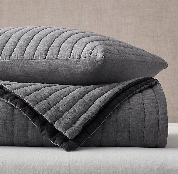 Heathered Cotton Voile Quilt Sham Voile Quilts Quilted Sham Quilt Bedding