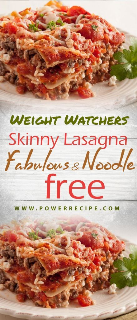 Skinny Lasagna Fabulous And Noodle Free All About Your