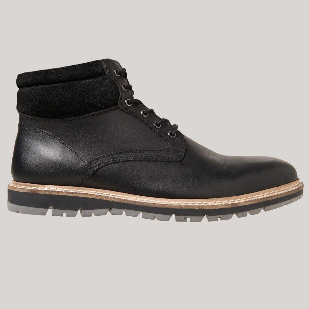 Boots homme cuir et feutrine - image 1