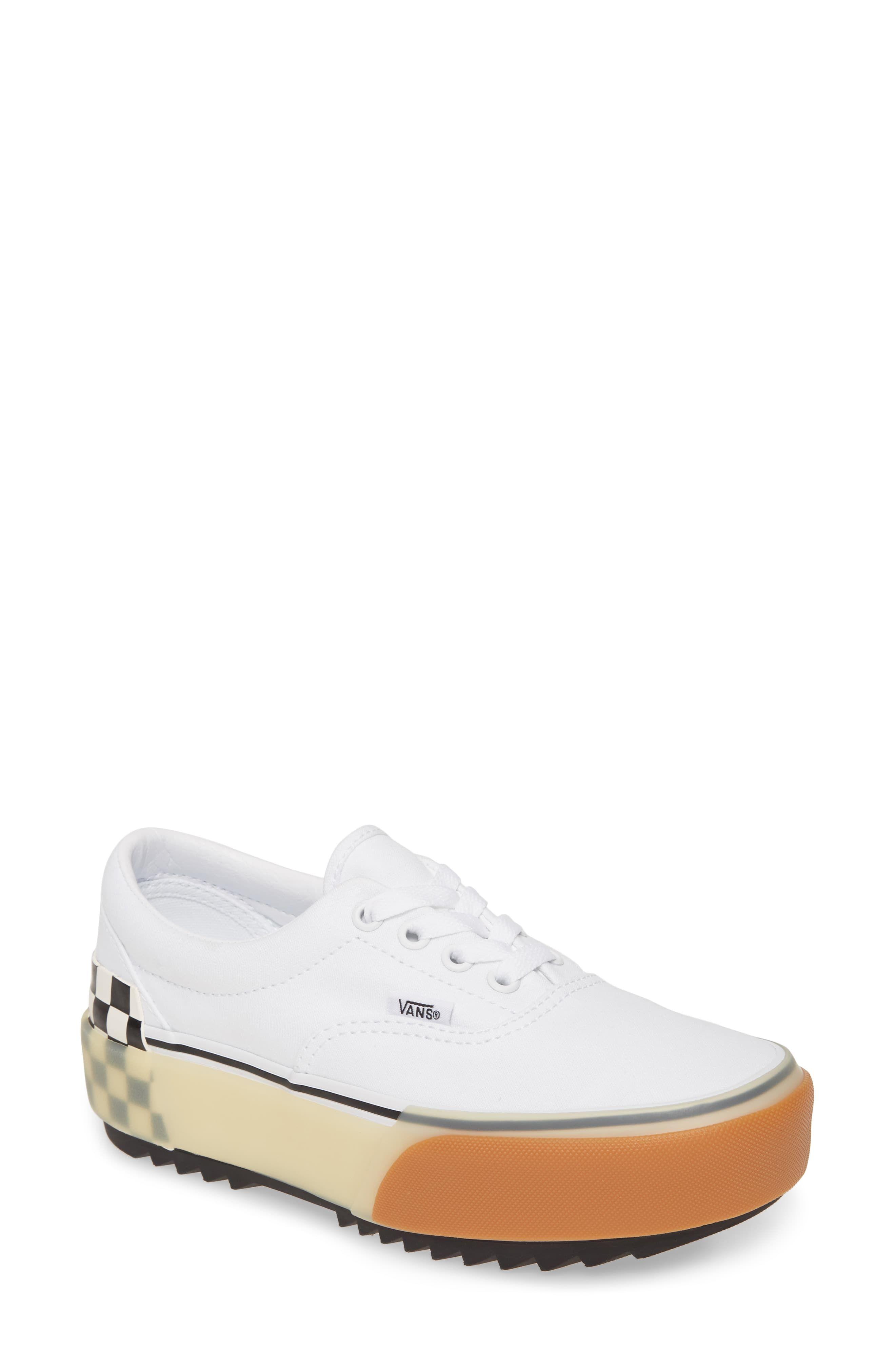 Vans Era Stacked Check Platform Sneaker (Women in 2019