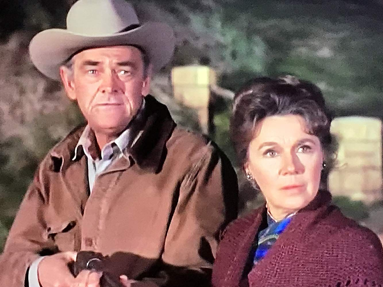 John McIntire and Jeanette Nolan in The Virginian (1962) | The virginian, Jeanette nolan, John mcintire
