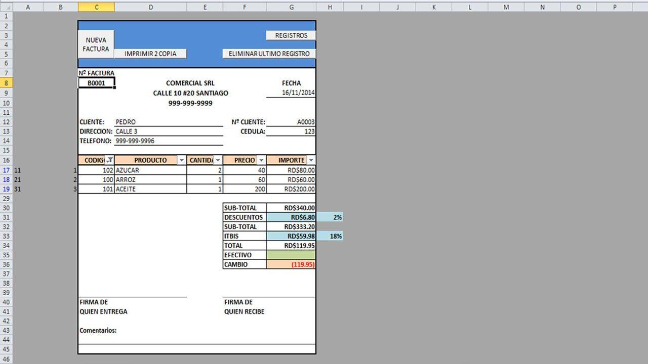 Como hacer una factura automtica con macros en Excel Parte 1