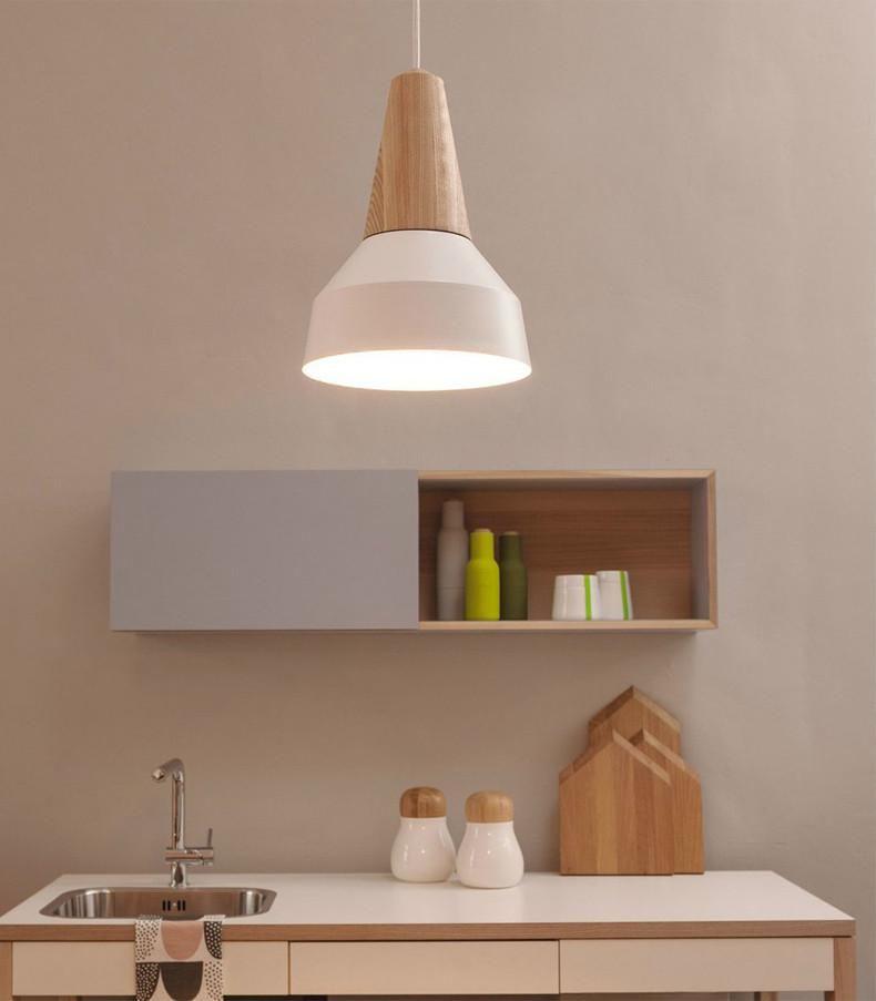 Lundlund Minimalist Scandinavian Wooden Pendant Light Wooden Pendant Lighting Wooden Lamps Design Minimalist Decor