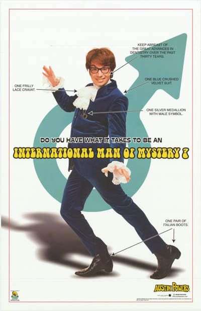 austin powers 2002 movie poster 22x34