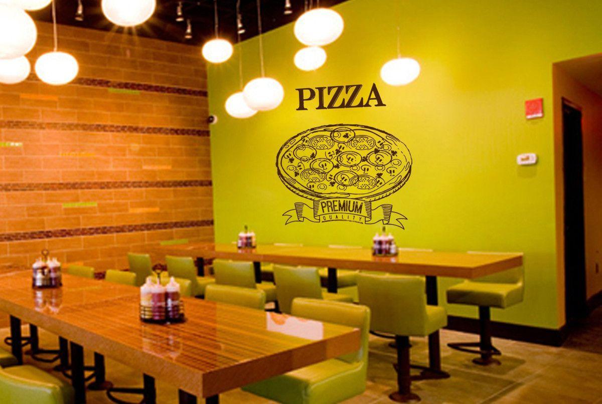 ik1035 Wall Decal Sticker pizza Pizzeria Italian Restaurant Pizzeria ...