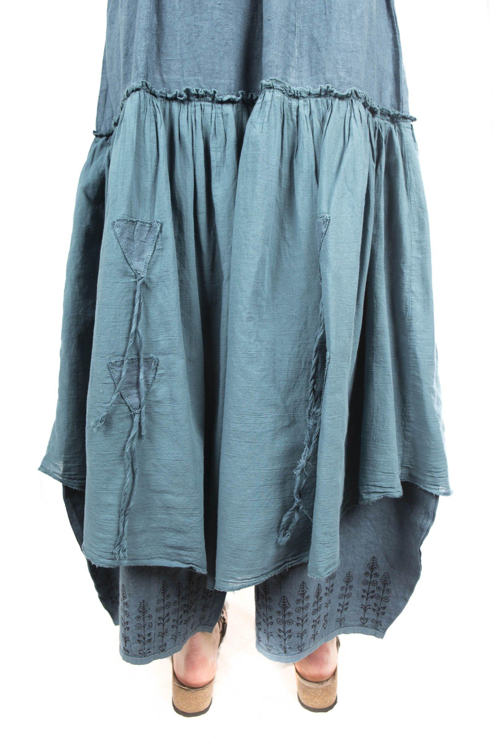 Fusion Skirt Pant Printed-Blue Fish Clothing