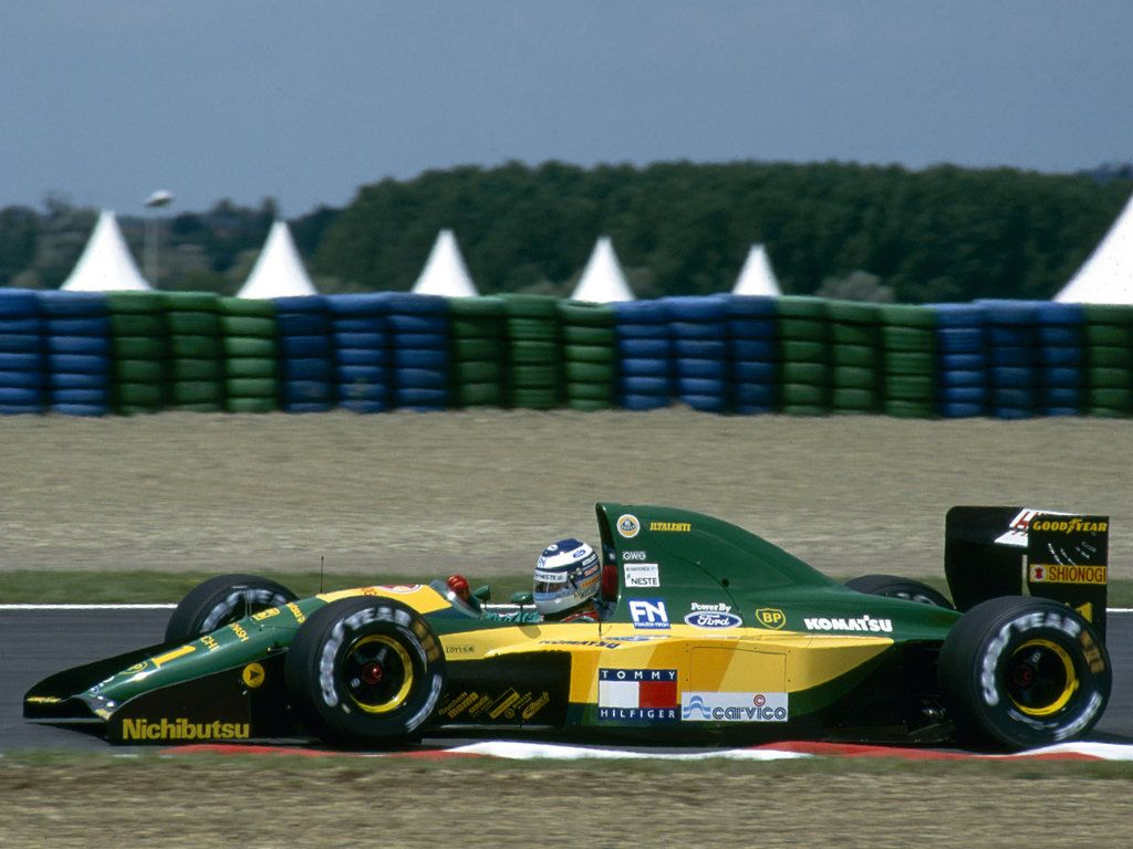 Mika H 228 Kkinen Team Lotus Lotus 107 Ford Hb 3 5 V8