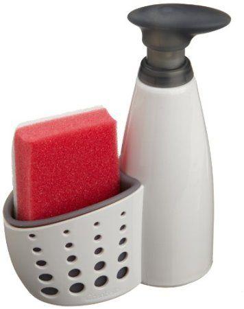 Casabella Sink Sider Soap Dispenser With Sponge Holder And Home Kitchen