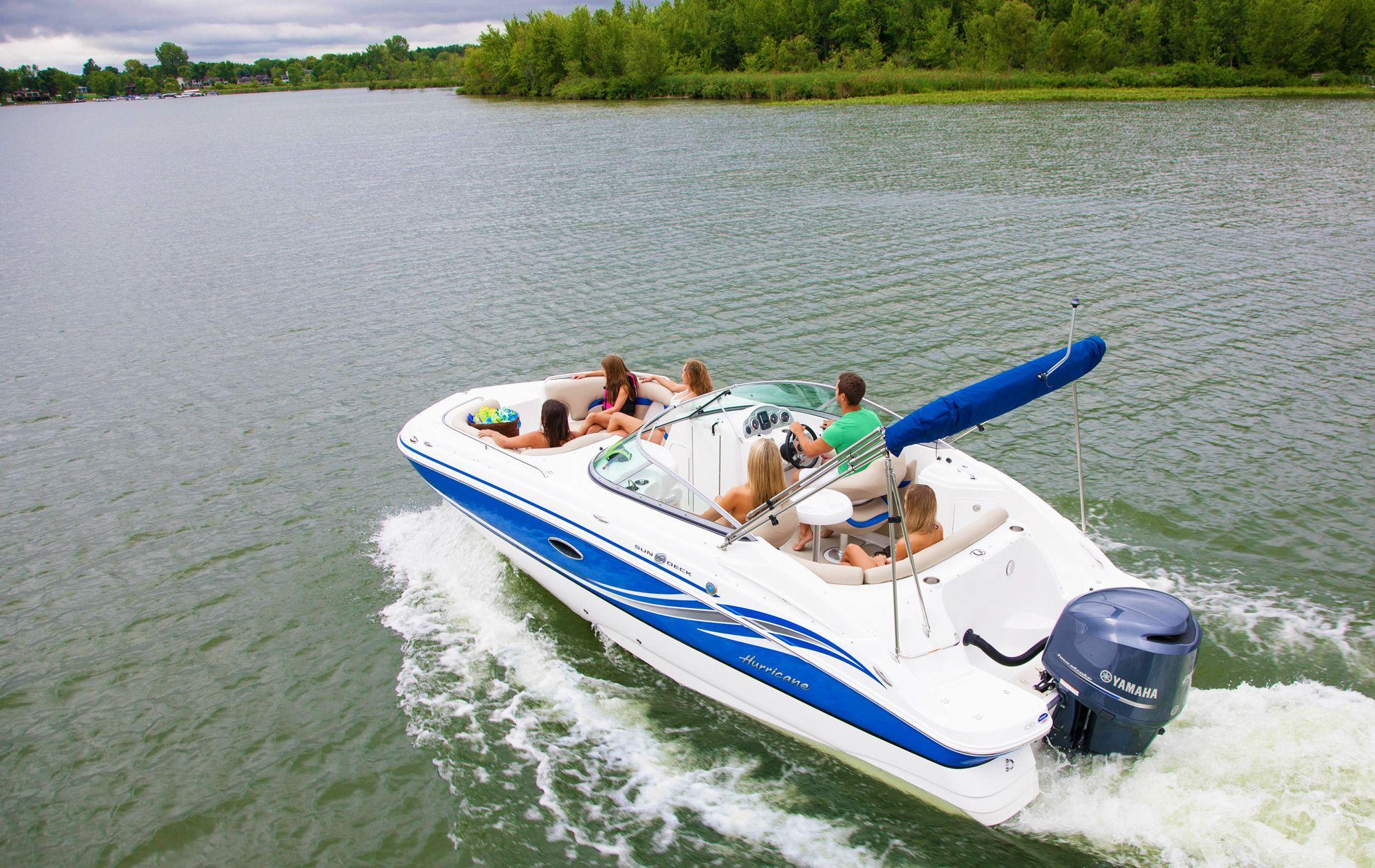 Pin By Hurricane Boats On Hurricane Sundeck Outboard Models Hurricane Boats Family Boats Outboard