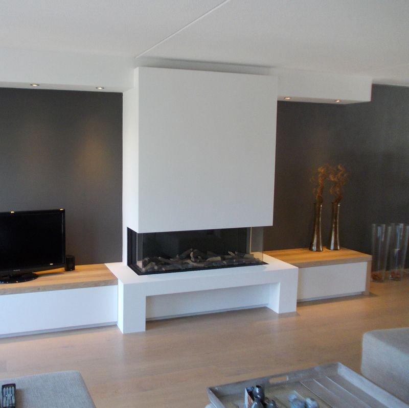 driezijdige brede gashaard inbouw haard naast boven televisie pinterest living rooms. Black Bedroom Furniture Sets. Home Design Ideas