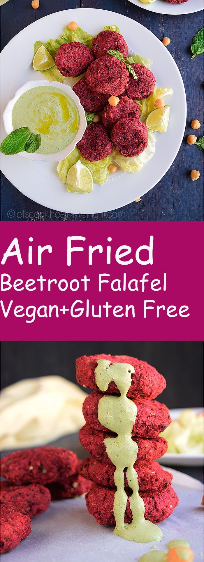 Air Fried Beet Root Falafel