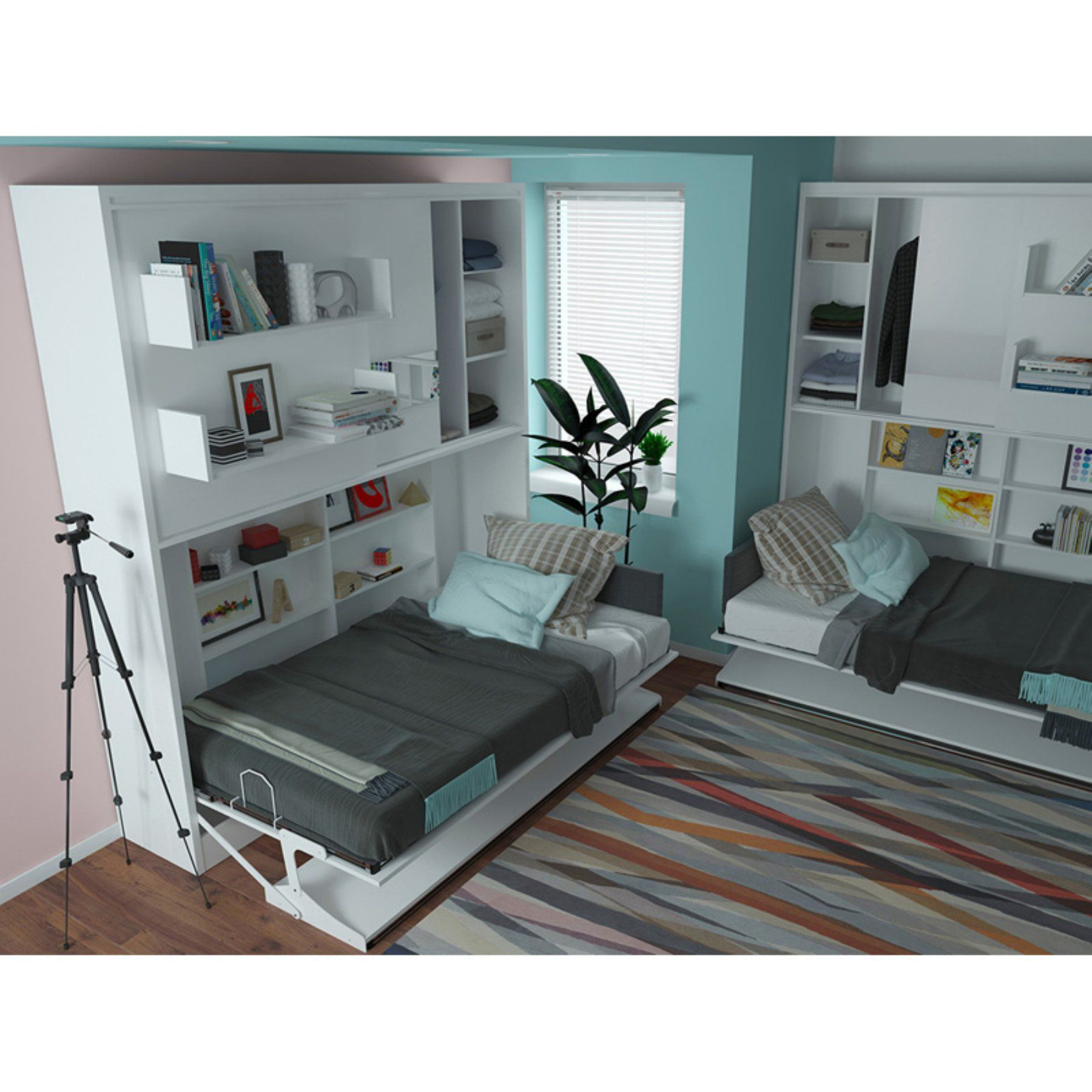 Multimo Parete Letto T Wall Bed System with Table