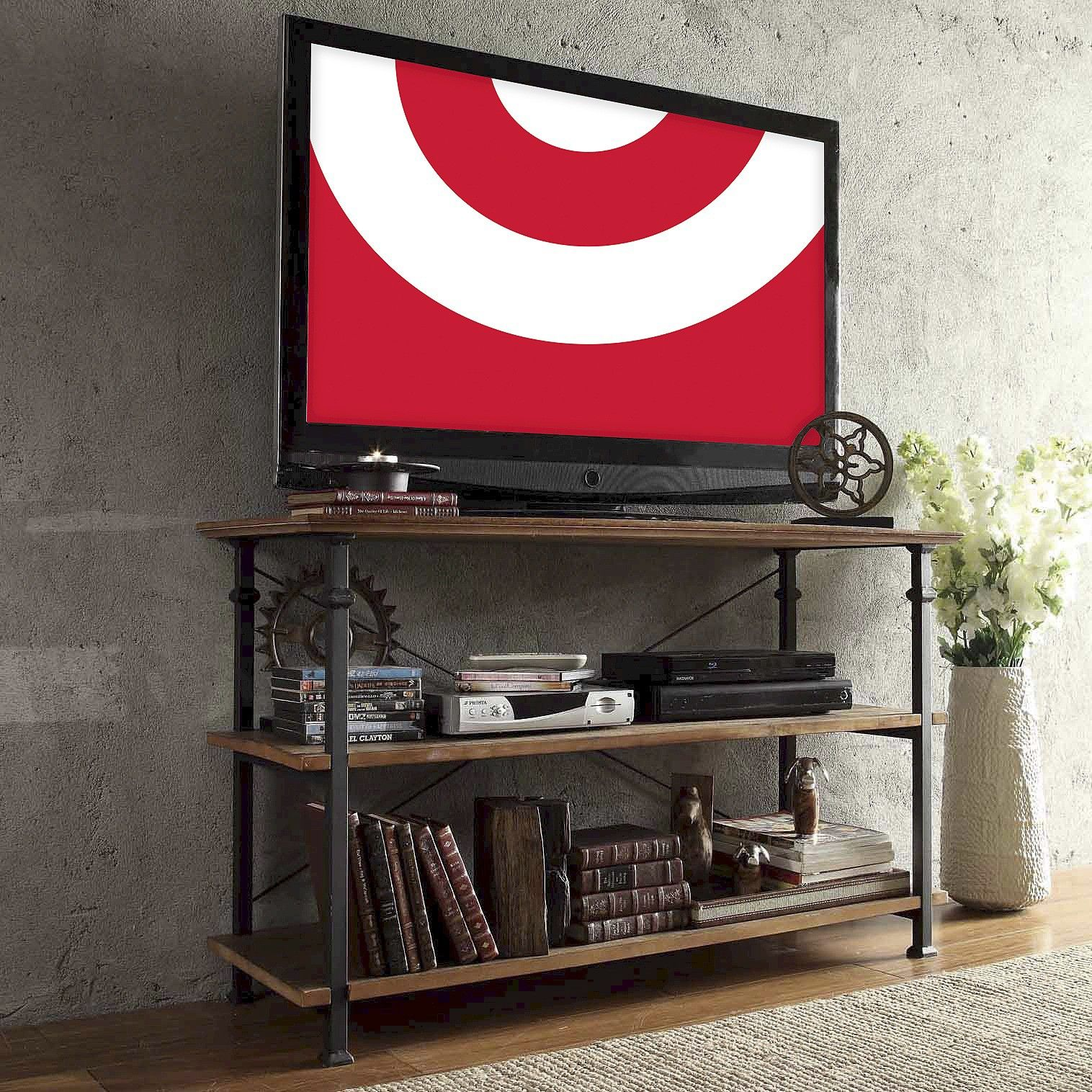 Ronay Rustic Industrial Tv Stand Inspire Q Industrial Tv Stand