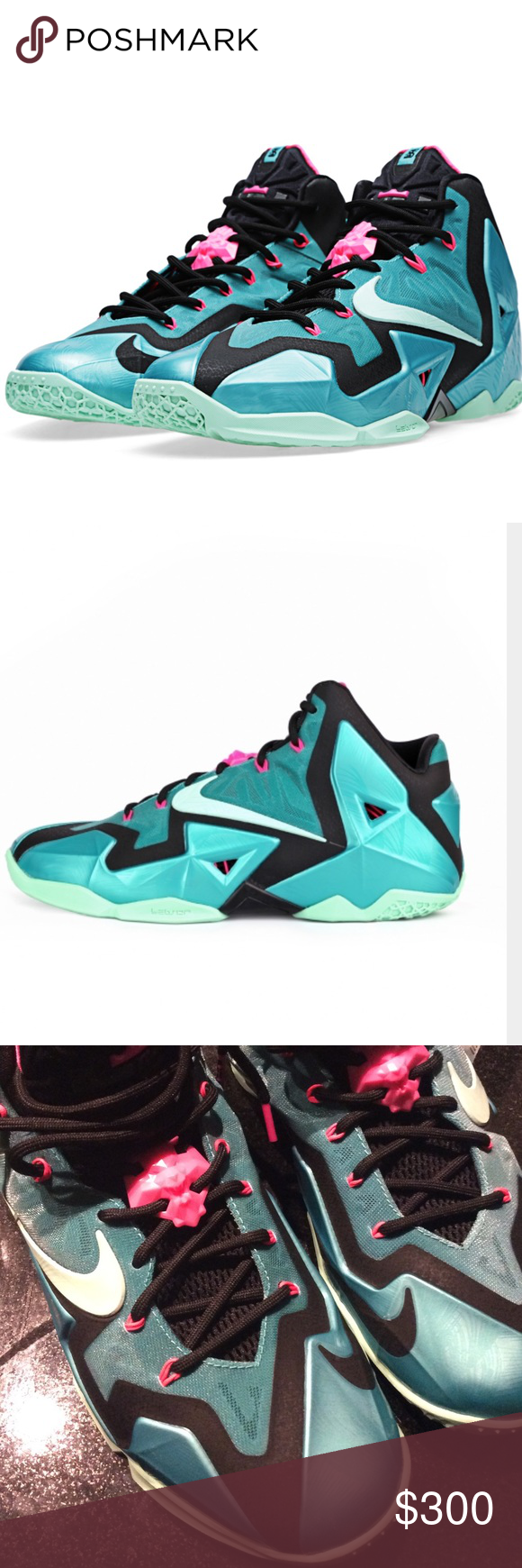 3e3fd93e7632d Deleting Today! Make an offer! 😮Nike Lebron 11 SB Teal