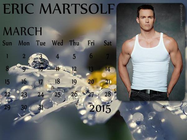 Eric Martsolf March 2015 Calendar