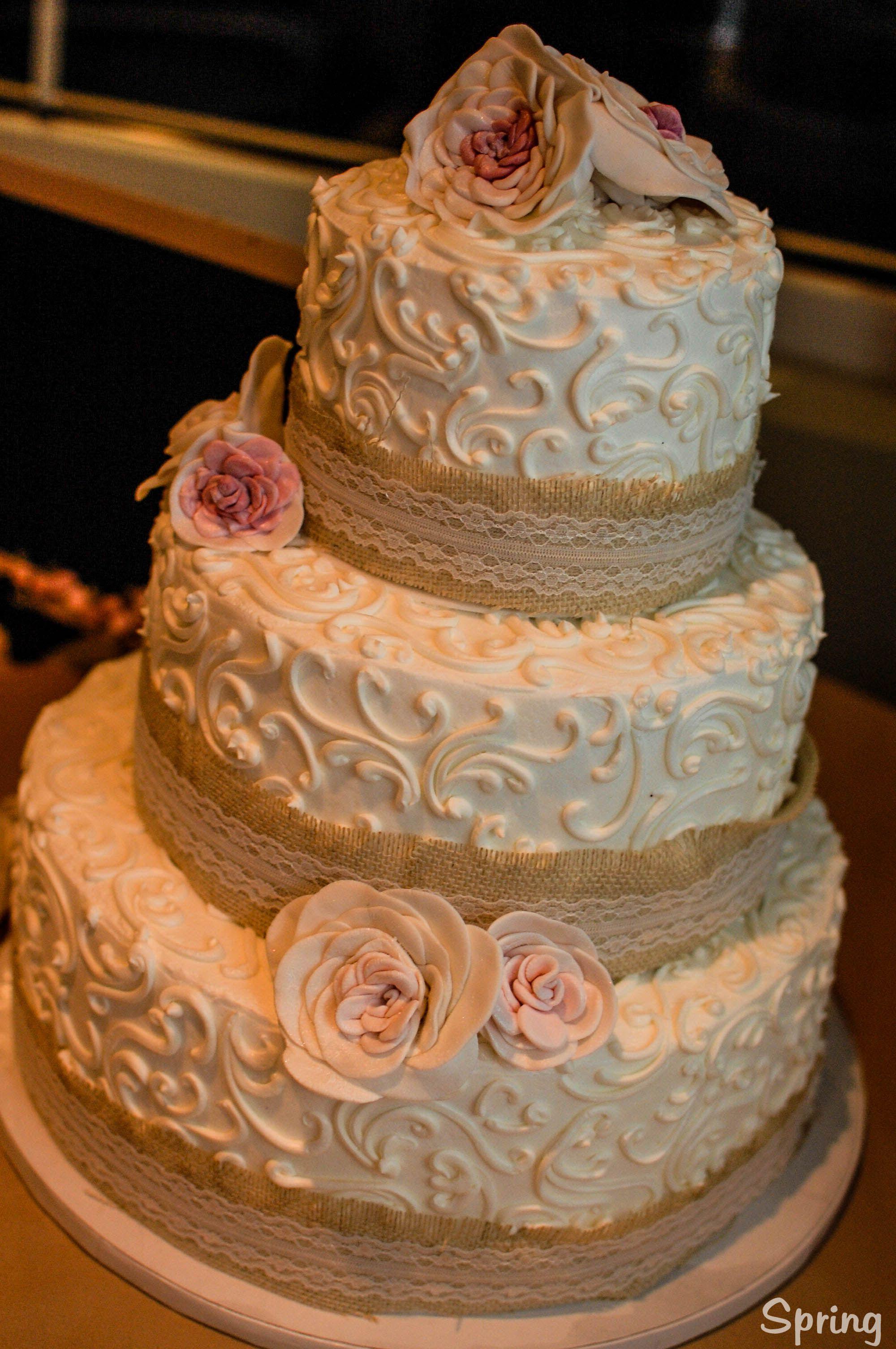 Burlap Cake