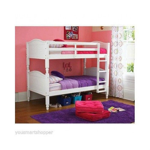 Twin over wood bunk bed full kids furniture loft metal for Kids twin bed with drawers