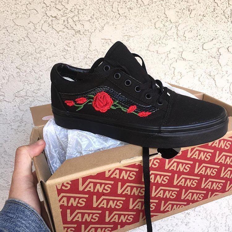 rose vans black
