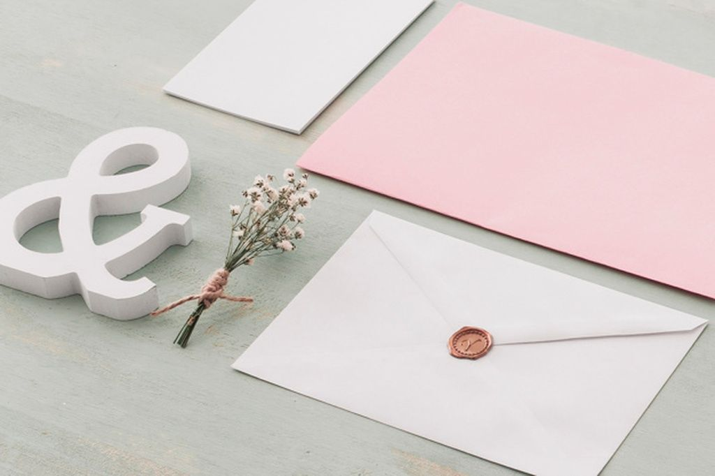 Beautiful stationery wedding concept paid ad