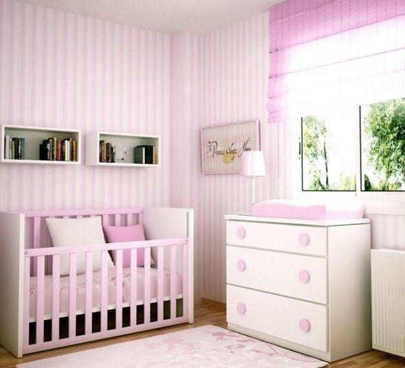 Habitacion de bebe rosa habitaciones de bebe pinterest - Abitaciones de bebes ...
