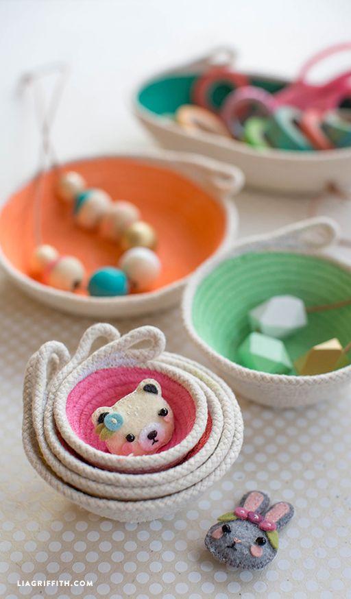 Cotton Clothesline Mini Bowls Rope Baskets Clothes Line Rope