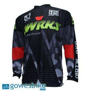 Jersey Sepeda Dirtworks X Hitam Abu-abu terdiri dari