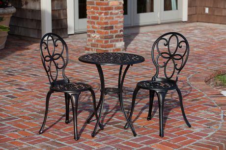Fleur De Lis Cast Iron Bistro Set Of 3 Decor Outdoor Patio Set