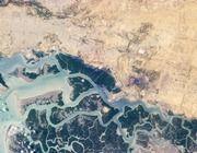 Korangi, Pakistan. Taken May 31, 2013 by a member of the International Space Station crew using a Nikon digital camera. Located in the Pacific Ocean, Gaua isla...