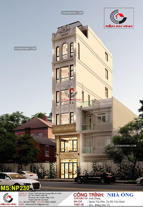 Mẫu thiết kế văn phòng nhà phố 6 tầng Kiến An Vinh