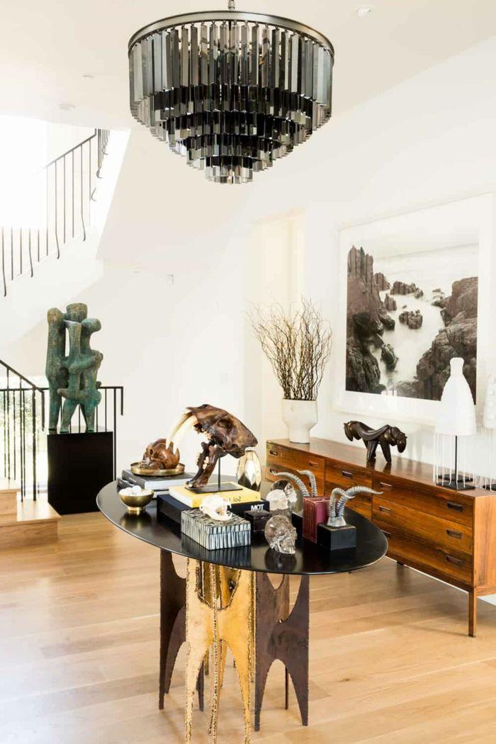 Awesome Einrichtungsideen Flur Ovaler Tisch Kommode Leuchter Moderne  Wohnideen
