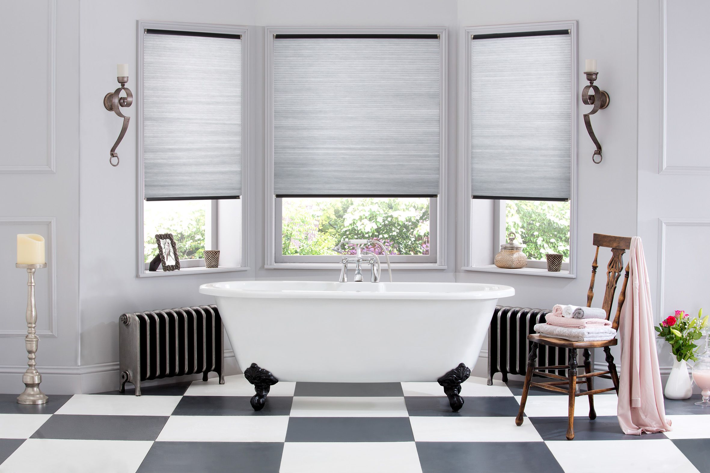 Hive Silkweave Raven Bathroom Blinds From Style Studio Hive