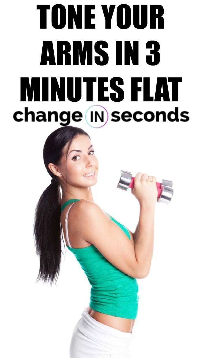 Tone Your Arms In 3 Minutes Flat! This workout can be done anywhere! Print our PDF today! #healthfit...