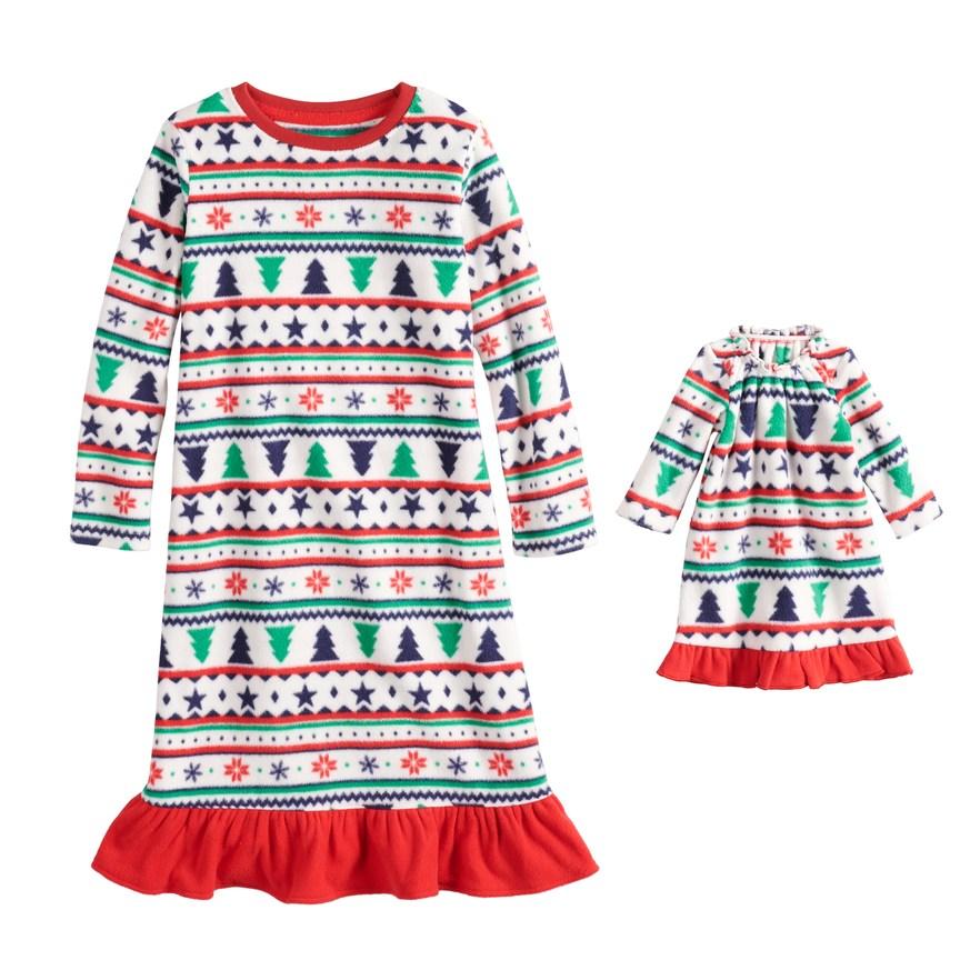 d168e8546 Toddler Girl Jammies For Your Families Fairisle Microfleece ...