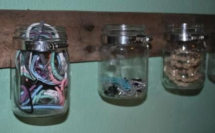 Bath Room Storage Ideas For Hair Dryers Mason Jars 24 ...