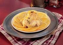 Veal chunks marinated in whisky with spicy orange sauce #Tastebudladies #Veal