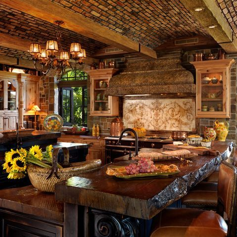 tuscan kitchens designs 44 reclaimed wood rustic countertop ideas sicily home 2983