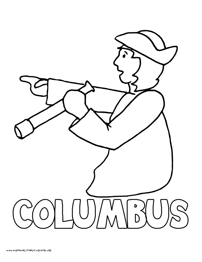 History Coloring Pages – Volume 3 | Christopher columbus and School