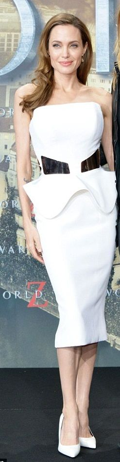 Angelina Jolie attending the World War Z premiere in Berlin in June