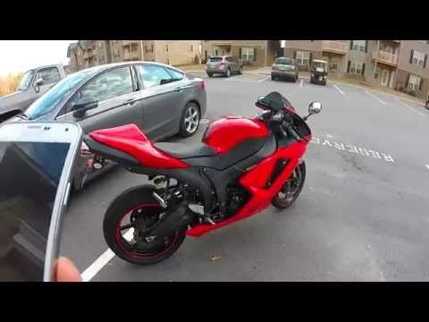 2007 Kawasaki ZX6R full Jardine Exhaust sound clip **HD** - YouTube