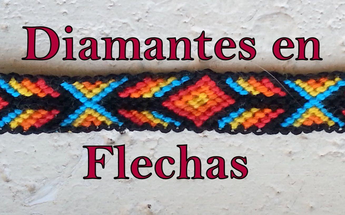 4a96420a064a Pulsera de Hilo: Diamantes en Flechas | pulseras en macramé ...