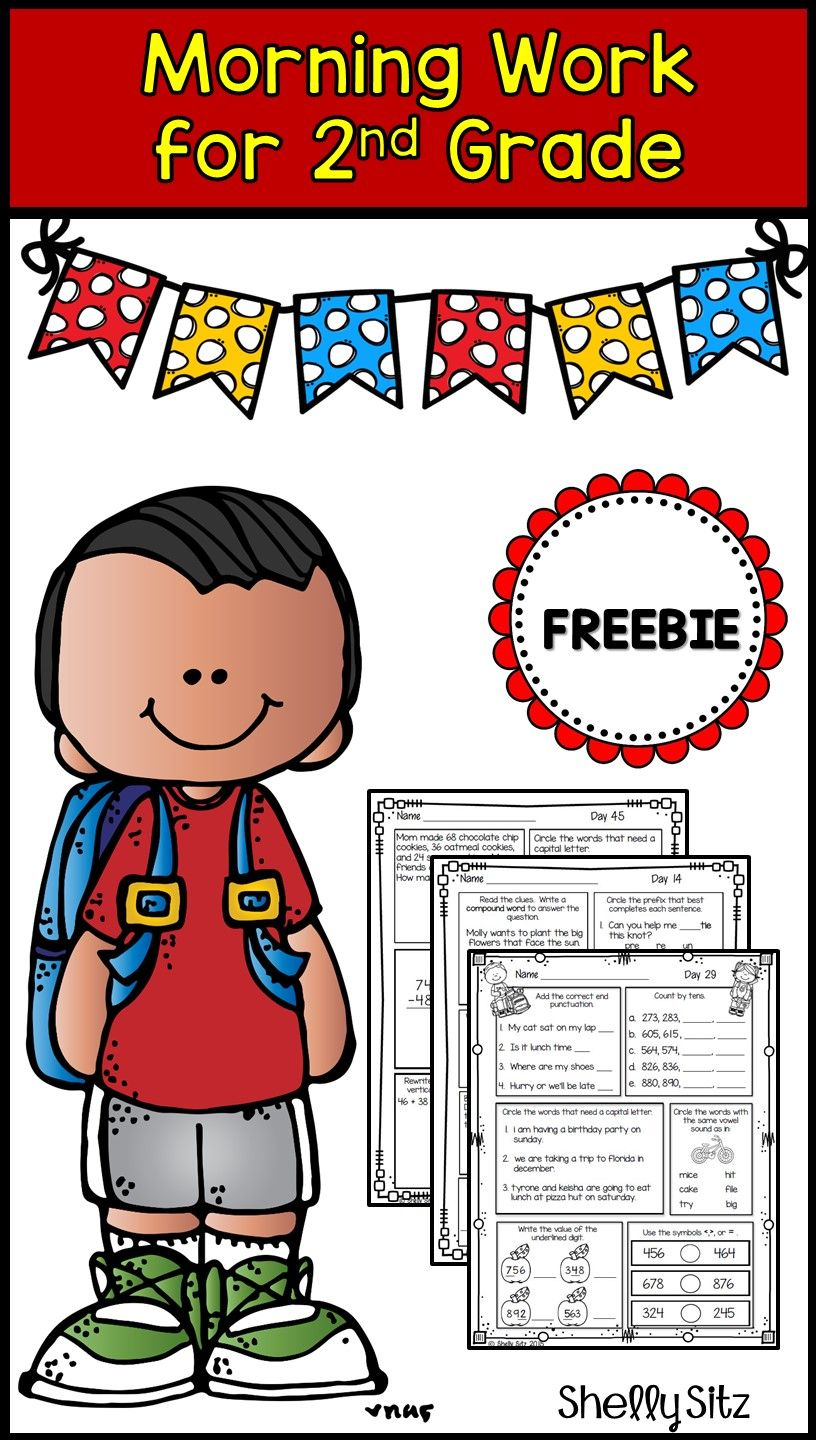 Uncategorized Morning Math Worksheets morning work for second grade freebie spiral review of math and language arts standards