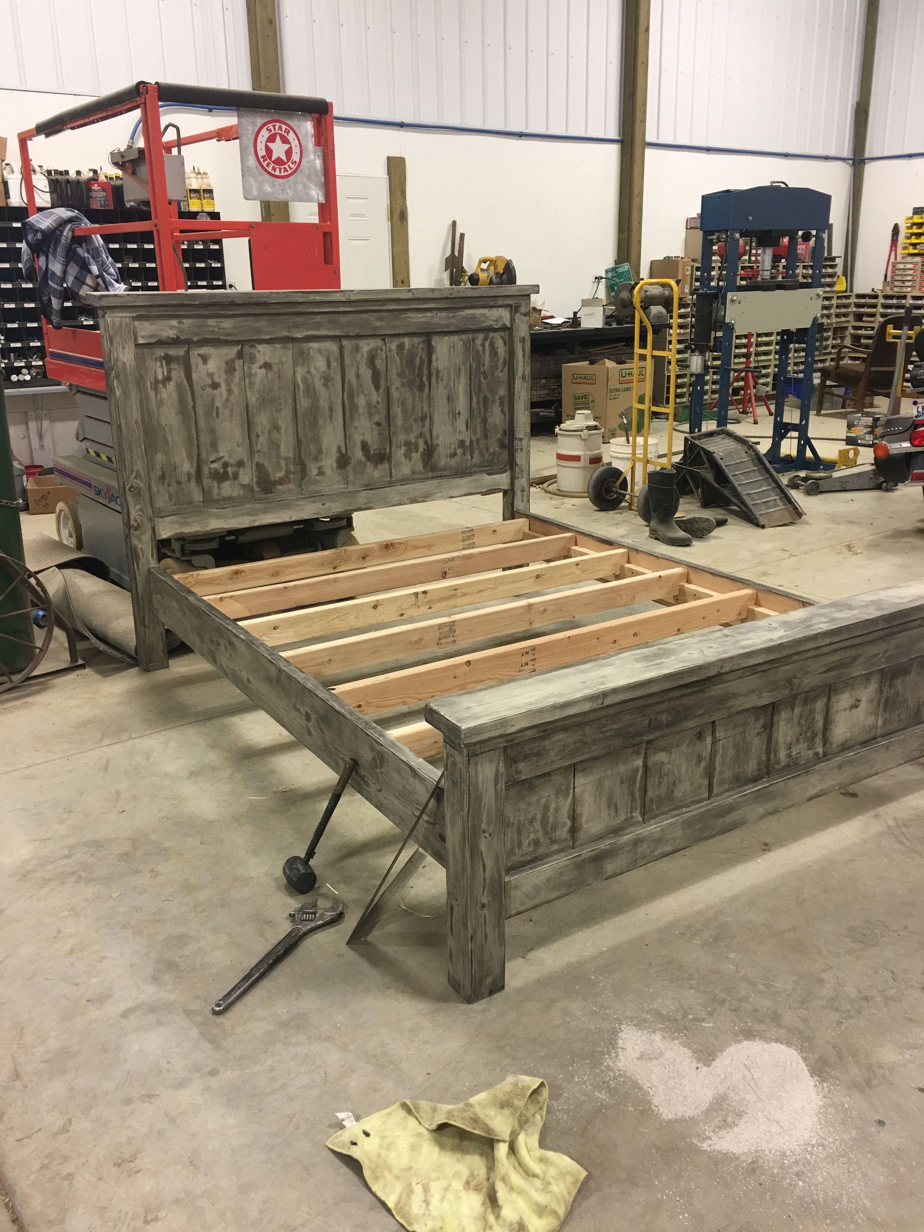 Diy Farmhouse Bed Queen Version