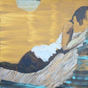 Lotta Esko: Billie, akryyli kankaalle, 120 cm x 120 cm, 2012 (teoskuva Marko Mäkinen)
