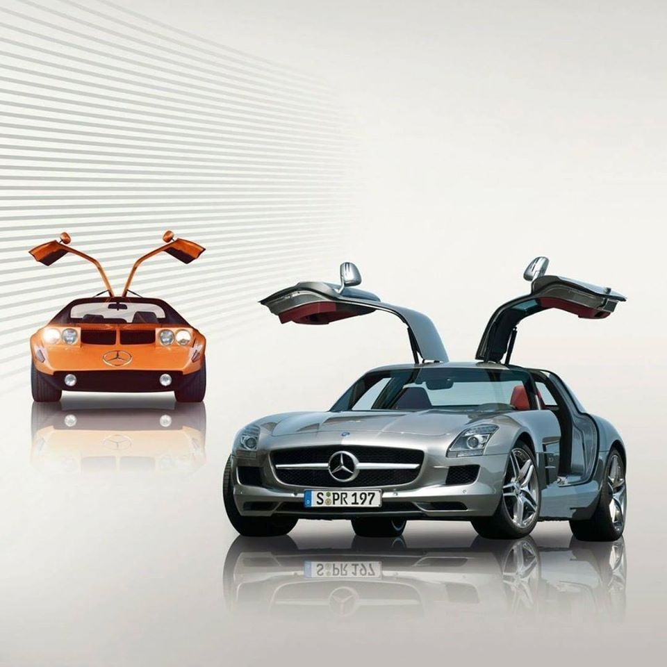 Mercedes Benz The Gullwing Doors Of The C 111 Experimental Car And The Mercedes Benz Sls Amg Epic Vi Mercedes Benz Sls Amg Mercedes Benz Sls Mercedes Benz