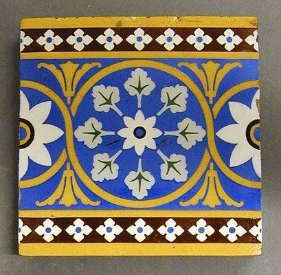 Craven Dunnill And Co Ca 1890 Border Design Design Floral
