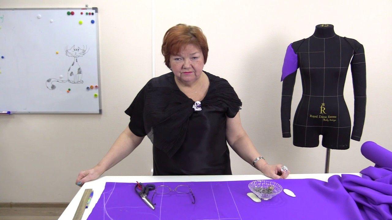 Платье с цельнокроеным рукавом без выкройки быстро