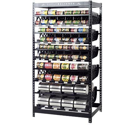 Food Rotation System Canned Soup Can Storage Rack Organizer Stand