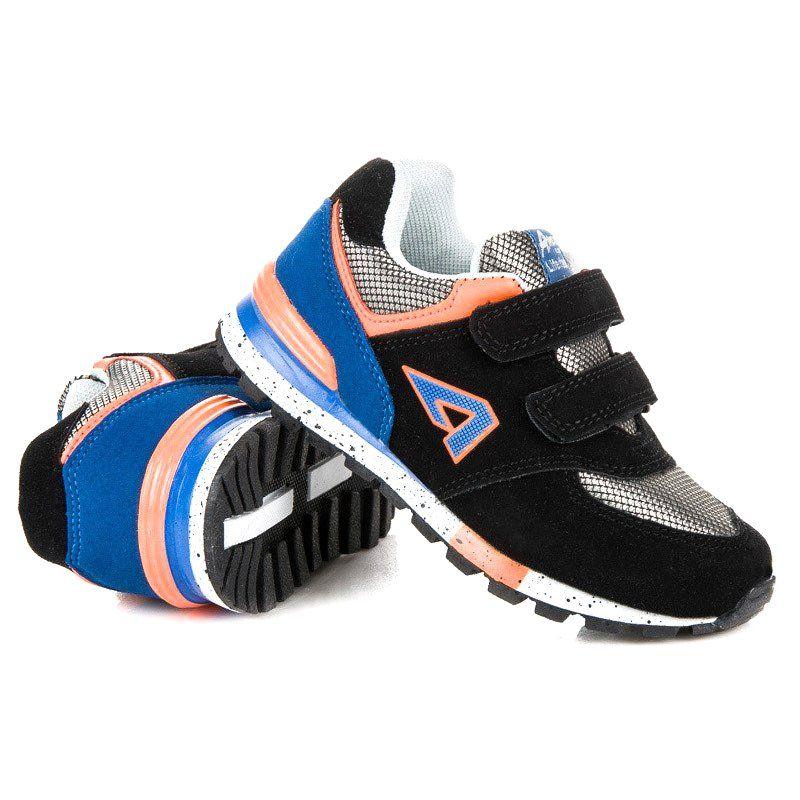 Buty Sportowe Dzieciece Dla Dzieci Americanclub Czarne Trampki Na Rzepy American American Club Sneakers Shoes New Balance Sneaker