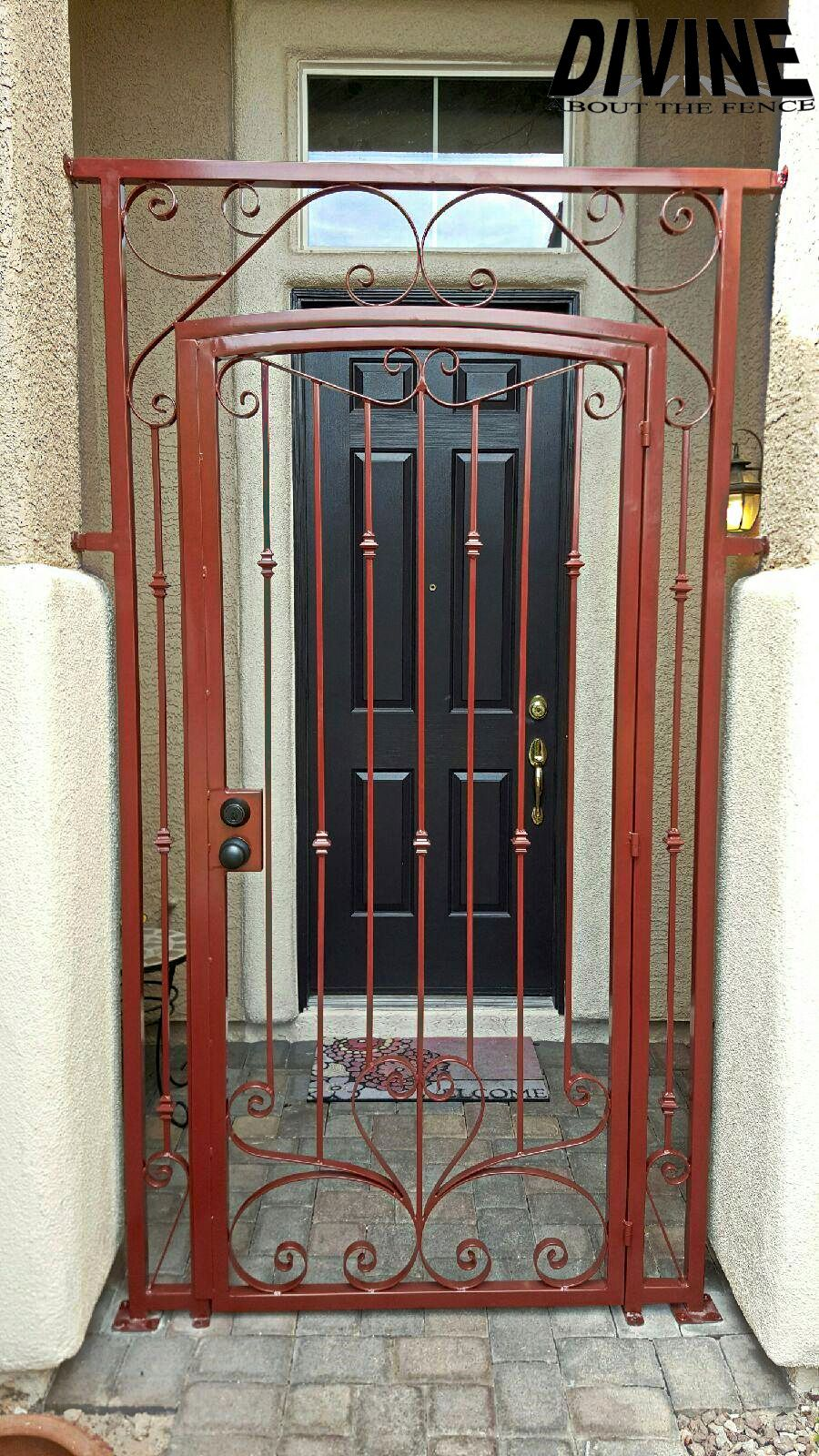 Custom Iron Security Door, designed and fabricated by ...
